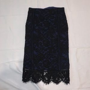 Nordstrom do+be pencil lace skirt NWOT